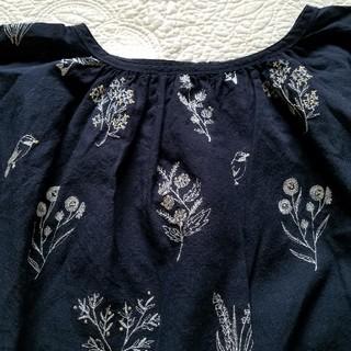 サマンサモスモス(SM2)のSM2*TUHARU*綿麻刺繍パフスリーブブラウス(シャツ/ブラウス(半袖/袖なし))