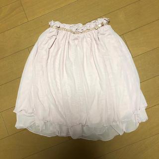 ジーユー(GU)のGU チュール ミディアムスカート PINK 130(スカート)
