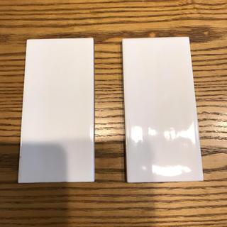 内装用壁タイル サンプル ホワイト二枚 (インテリア雑貨)