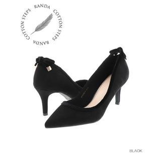 ランダ(RANDA)のランダ COTTON STEPS バックベロアリボンパンプス(ハイヒール/パンプス)