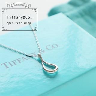 Tiffany & Co. - 新品仕上げ TIFFANY & Co. オープンティアドロップ ネックレス