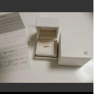 ヨンドシー(4℃)の4°C 指輪 ピンクゴールド ダイヤモンド 10k(リング(指輪))