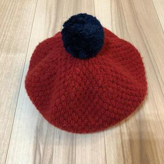 familiar - 美品 ファミリア ベレー帽 赤  53-55