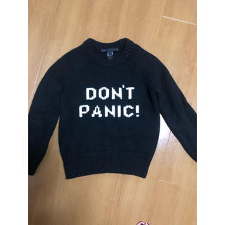マークバイマークジェイコブス(MARC BY MARC JACOBS)のニット セーターマークジェイコブス don't panic!ブラックニット(ニット/セーター)