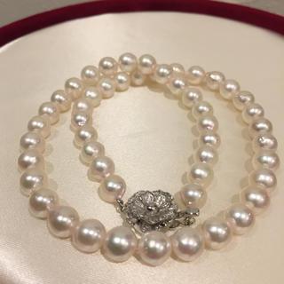 あこや真珠 変形 7.5mm ネックレス 19i-65