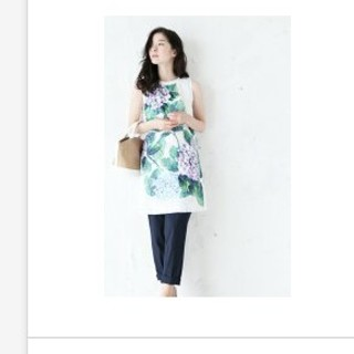 カワイイ(cawaii)のcawaii紫陽花刺繍ノースリーブ(カットソー(半袖/袖なし))