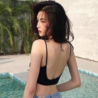 ALEXIA STAM - Lサイズ ♥ バックオープン キャミ 背中あき パット付き ♥