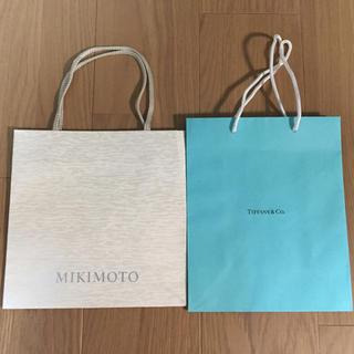 ティファニー(Tiffany & Co.)のティファニー ミキモト 紙袋 ショップ袋(ショップ袋)