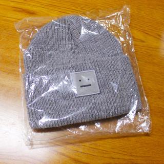 アクネ(ACNE)のニット帽 / ビーニー / beanie / グレー  grey / 新品 (ニット帽/ビーニー)