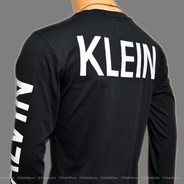 Calvin Klein(カルバンクライン)の新品 カルバンクラインジーンズ 黒 M L XL 背中ロゴ 袖ロゴ ロンT CK メンズのトップス(Tシャツ/カットソー(七分/長袖))の商品写真