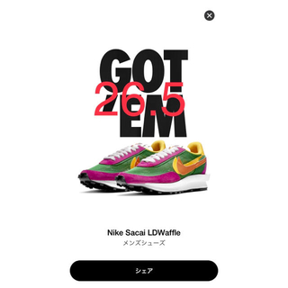 NIKE - Nike×Sacai LDWaffle メンズシューズ