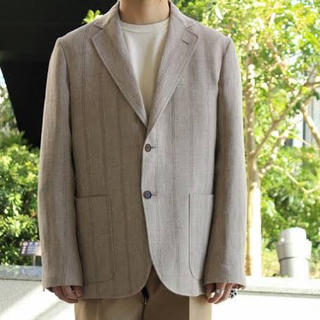LINEN WOOL SILK SHARK SKIN JACKET