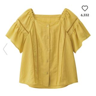 ジーユー(GU)のハシゴレースブラウス(シャツ/ブラウス(半袖/袖なし))