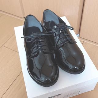 メルロー(merlot)のmerlot レースアップシューズ  ブラック・エナメル【M】(ローファー/革靴)