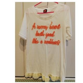 ハートマーケット(Heart Market)の立体的なロゴがおしゃれ!ハトマのTシャツワンピース(ひざ丈ワンピース)