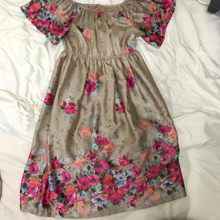 お花柄 フラワーワンピース ドレス(ミニワンピース)