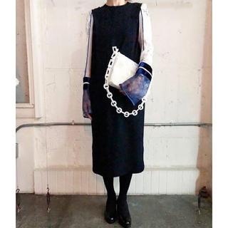 mame - 新品未使用 19FW mame Silk Lame Sleeves Dress