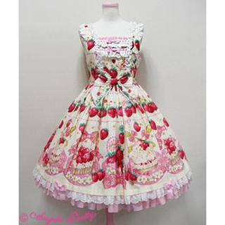 Angelic Pretty - Angelic Pretty Strawberry Whipジャンパースカート