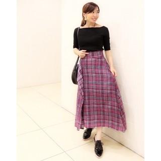 Mila Owen - 新品 ツイードヘムラインスカート