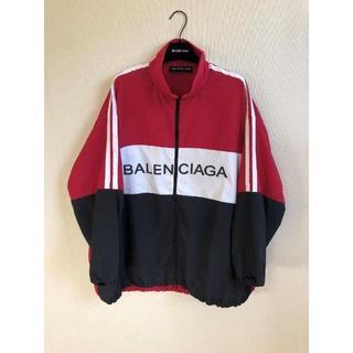 バレンシアガ(Balenciaga)のバレンシアガ トラックジャケット 赤 40 BALENCIAGA(ナイロンジャケット)