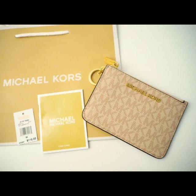 Michael Kors(マイケルコース)の070 MICHAEL KORS パスケース 小銭入れ ロゴピンク レディースのファッション小物(名刺入れ/定期入れ)の商品写真
