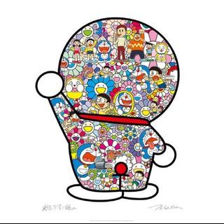 たかし様専用☆藤子・F・不二雄先生とドラえもんがお花畑に居る ※ポスター(キャラクターグッズ)