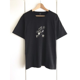adidas - 【希少】adidas/アディダス『スポーティー』トレフォイルロゴTシャツ/黒/L