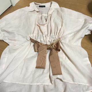 ミッシュマッシュ(MISCH MASCH)のミッシュマッシュ 前りぼんシャツ(シャツ/ブラウス(半袖/袖なし))