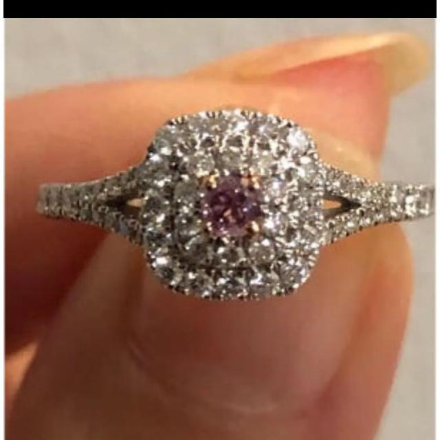 ピンクダイヤモンド リング レディースのアクセサリー(リング(指輪))の商品写真