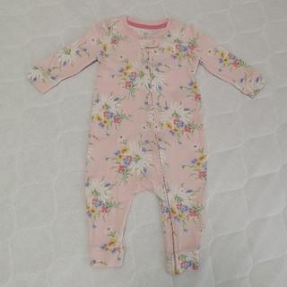 ベビーギャップ(babyGAP)のbabyGAP 長袖ロンパース 可愛い花柄 サイズ70(ロンパース)