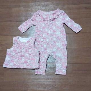 ベビーギャップ(babyGAP)のbabygapbabygapの子花柄ロンパース 上着付き(ロンパース)