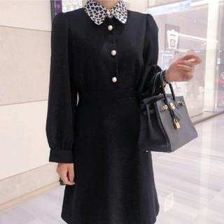スナイデル(snidel)のLEOPARD Button midi Dress.  (ロングワンピース/マキシワンピース)