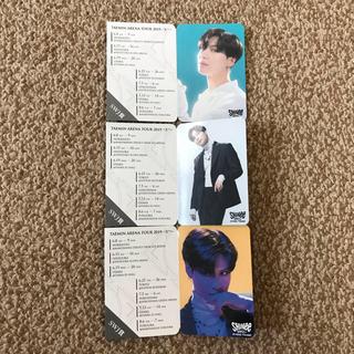 シャイニー(SHINee)のSHINee テミン アリーナツアー2019 Xtm FC抽選カード 3種セット(アイドルグッズ)