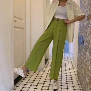 Ameri VINTAGE - ☺︎完売商品☺︎ カラーパンツ パンツ 緑