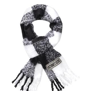 ヴィクトリアズシークレット(Victoria's Secret)のヴィクトリアシークレット マフラー 白×黒(マフラー/ショール)