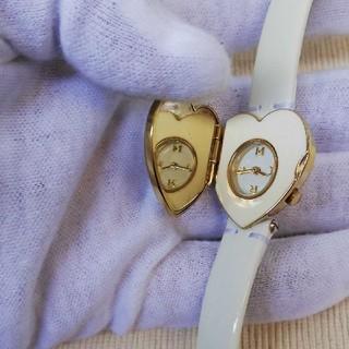 マークジェイコブス(MARC JACOBS)の美品!MARC JACOBSハートミラー時計、電池交換済(腕時計)