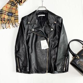 IENA - タグ付き未使用♡イエナ 羊革 ライダースジャケット ブラック 本革 黒