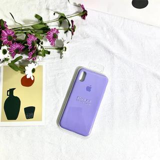 紫 シリコンケース iPhone X