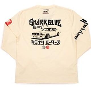 カミナリモータース/サメブル/ロンT/白/kmlt-192/テッドマン(Tシャツ/カットソー(七分/長袖))