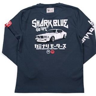 カミナリモータース/サメブル/ロンT/紺/kmlt-192/テッドマン(Tシャツ/カットソー(七分/長袖))