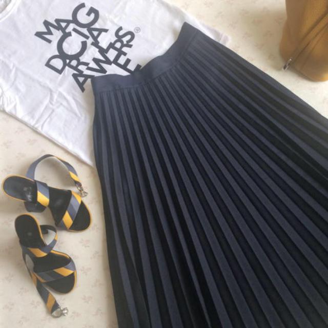 Drawer(ドゥロワー)のドゥロワー マジカルTシャツ  ホワイト×ブラック 1 レディースのトップス(Tシャツ(半袖/袖なし))の商品写真