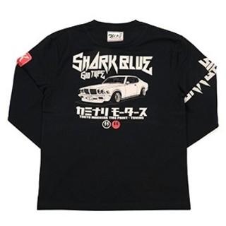 カミナリモータース/サメブル/ロンT/黒/kmlt-192/テッドマン(Tシャツ/カットソー(七分/長袖))