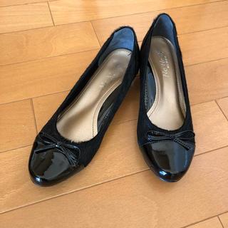 NeNe☆日本製パンプス☆ハラコ☆22cm☆ブラック☆ネネ(ハイヒール/パンプス)