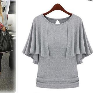 【即購入OK】大きいサイズ 半袖トップス(Tシャツ(半袖/袖なし))