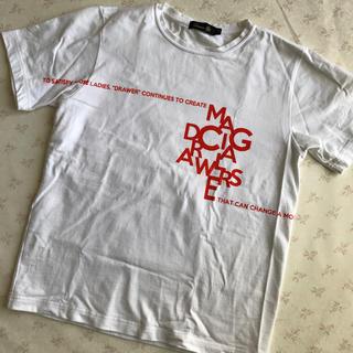 ドゥロワー(Drawer)のドゥロワー マジカルTシャツ ホワイト×オレンジ 1(Tシャツ(半袖/袖なし))