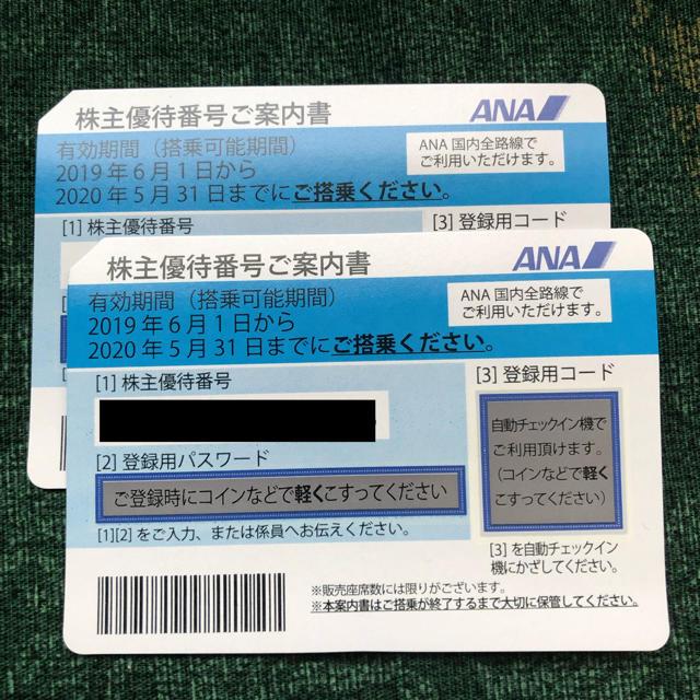 ANA(全日本空輸)(エーエヌエー(ゼンニッポンクウユ))のANA 株主優待券 2枚 チケットの乗車券/交通券(航空券)の商品写真