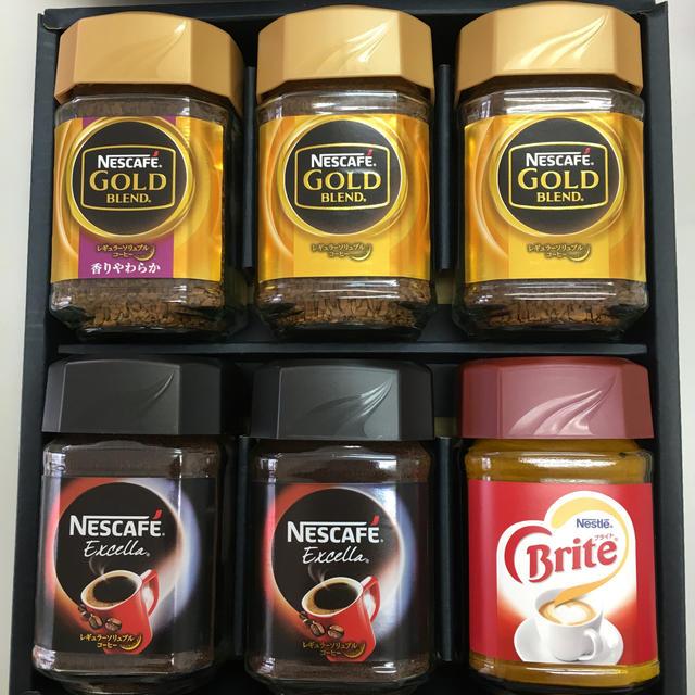 Nestle(ネスレ)のネスカフェコーヒーギフトセット 食品/飲料/酒の飲料(コーヒー)の商品写真
