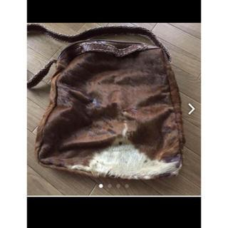 デプレ(DES PRES)のハラコ素材 ショルダー トート 2wayバッグ かばん(ショルダーバッグ)