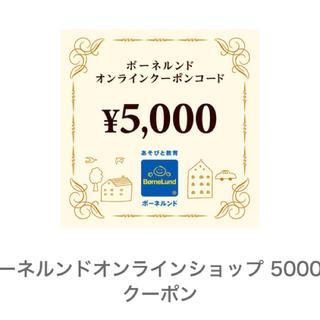 ボーネルンド(BorneLund)のボーネルンド 5000円 クーポン(ショッピング)