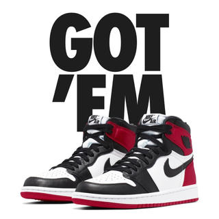 ナイキ(NIKE)のAir Jordan 1 black toe satin(スニーカー)